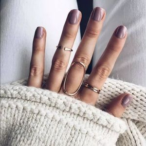 4 pack midi rings gold minimalist dainty